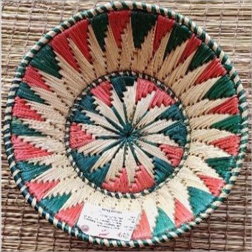 Multicolor Cane Fruit Basket