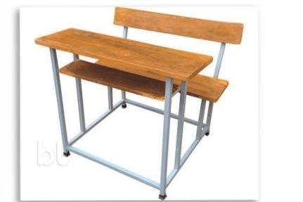 wooden schhol bench