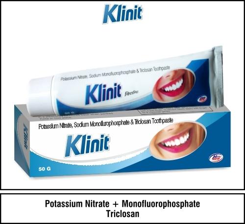 Potassium Nitrate  5% w/w + Triclosan  0.3% w/w +  Sodium Monofluorophosphate  0.7% w/w