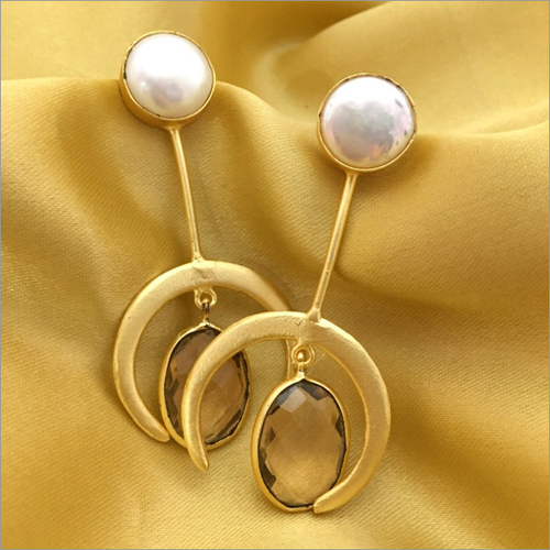 Contemporary Baroque Pearl Earrings