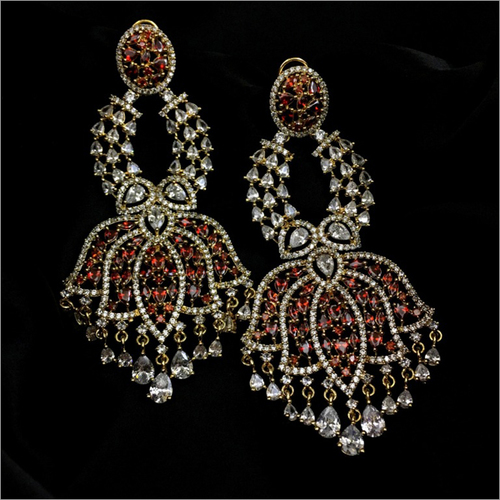 Modern Indian AD Chandelier Earrings