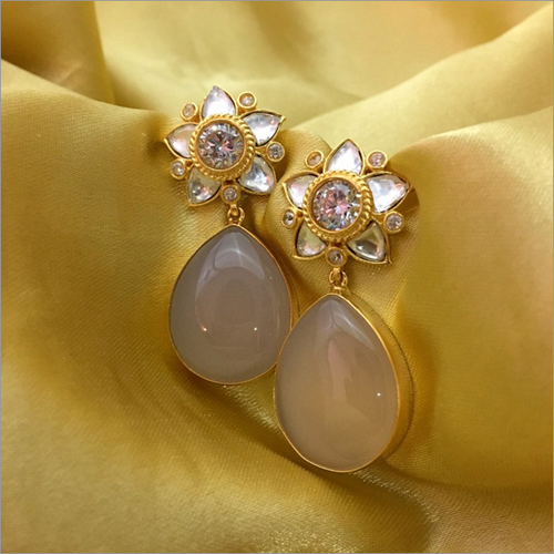 Onyx Kundan Fusion Earrings