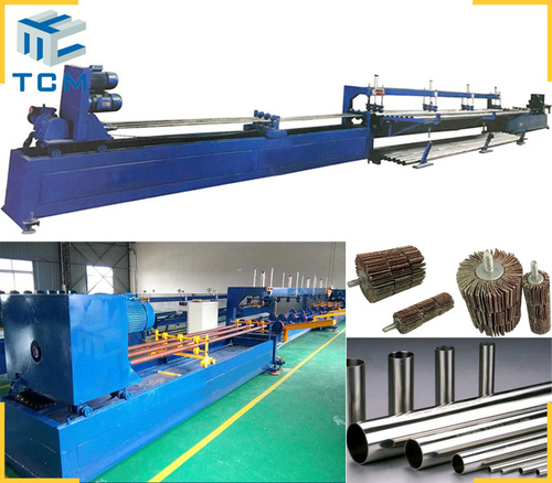 Steel pipeline pipe inner surface automatic grinding machine