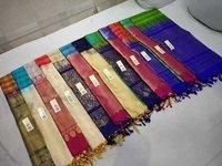Pure Silk Checked Saree