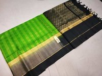 Fancy Silk Checked Saree