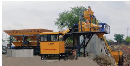 Automatic Mobile concrete batching plant