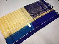 Ladies Kanchipuram Checked Silk