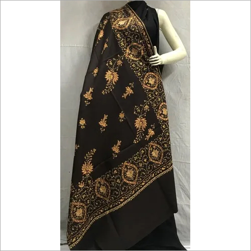 Handmade Needlework Kashmiri Embroidered Shawl