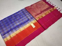 Silk Checked Bordered Saree