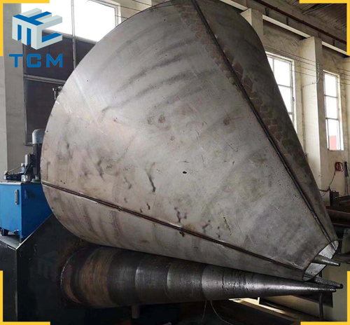 Steel cone hydraulic rolling machine