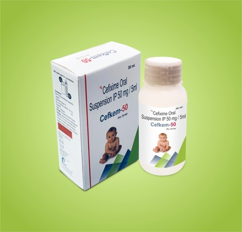 50 MG / 5 ML Cefixime Oral Suspension IP