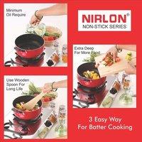 Nirlon Casserole 3L Aluminium Nonstick Cooking Pot, Biryani pans and pots kitchen Essential (CS24cm)