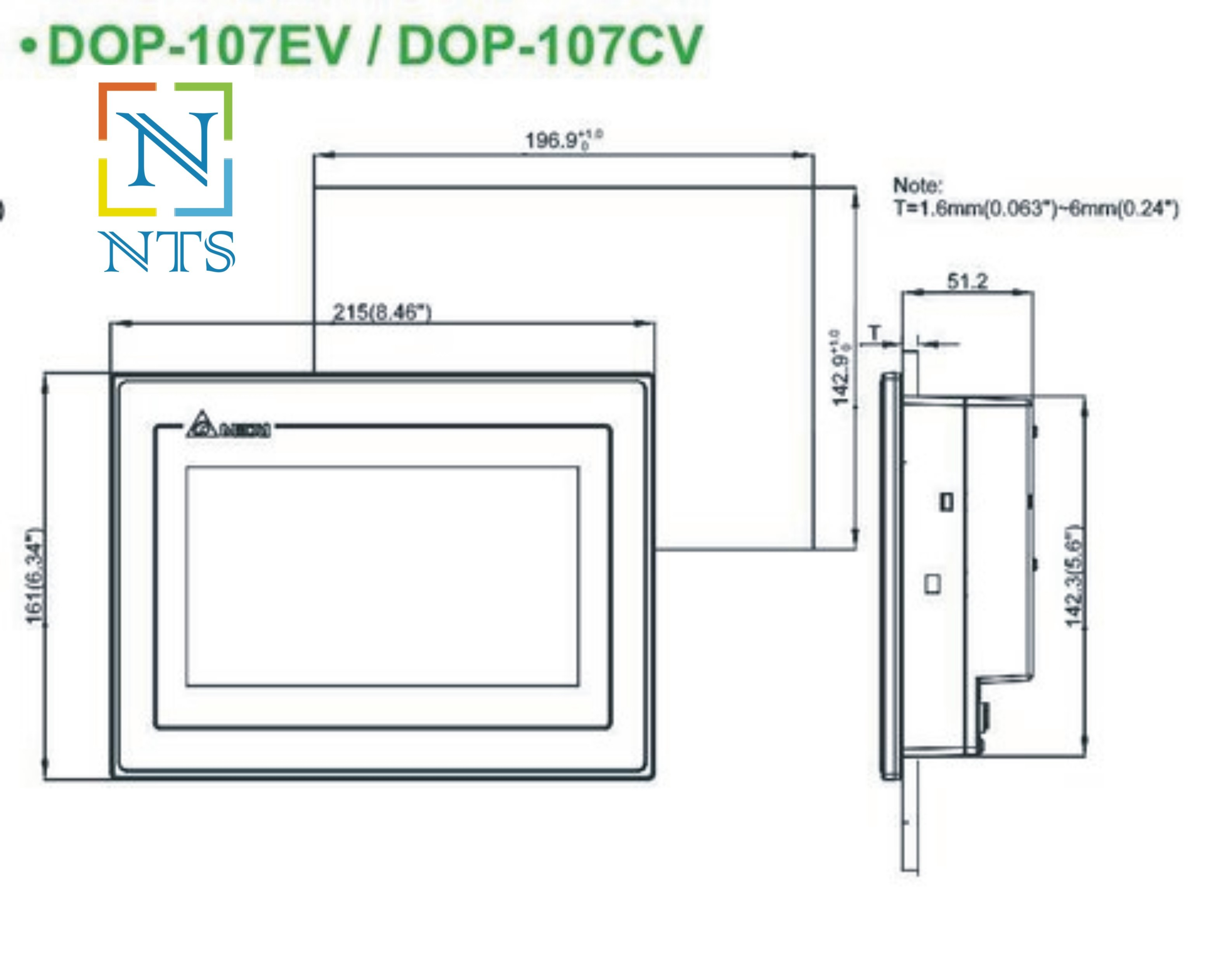 Delta DOP-107EV HMI Display