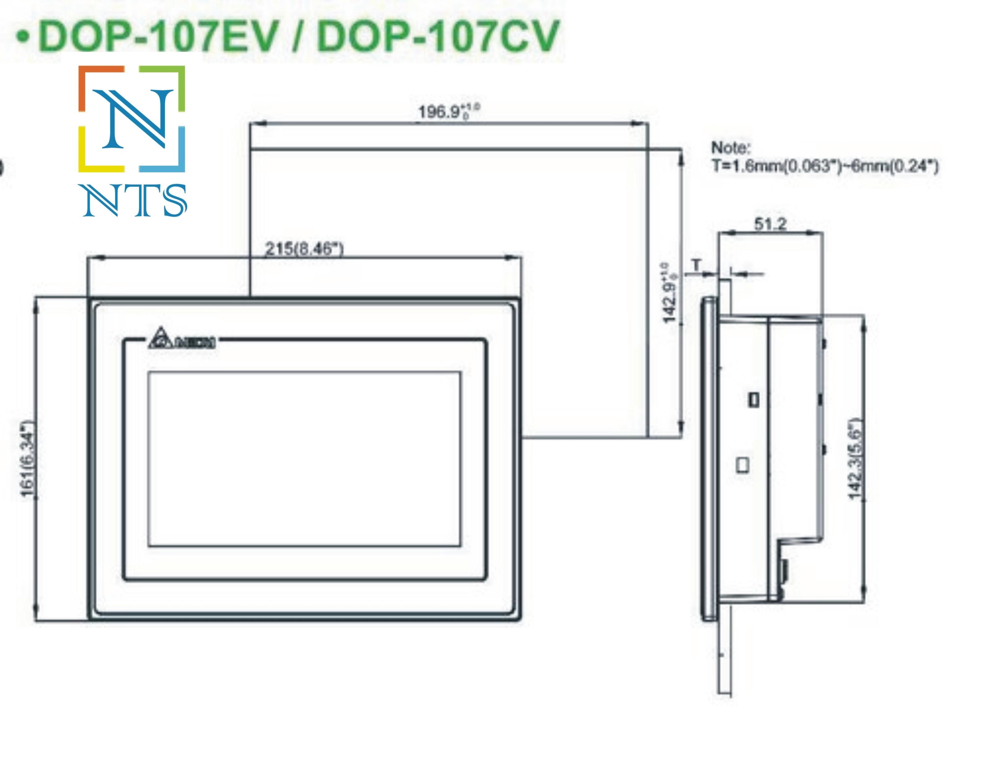 Delta DOP-107EV HMI Display