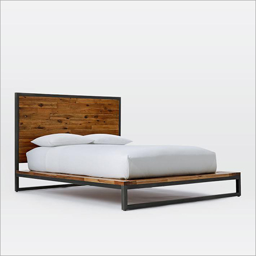 King Size Steel And Wooden Bed