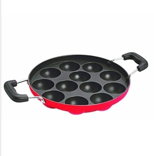 12 Cavity Nirlon Appam Patra with Stainless Steel Lid
