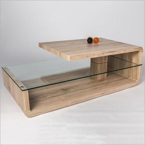 Customized Wooden Table With Glass
