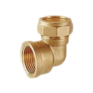 Brass Female Elbow Connector Assembly