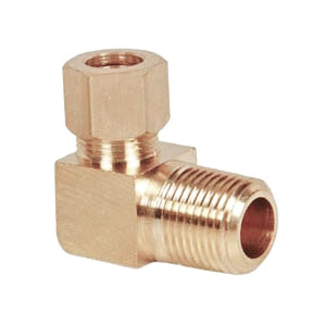 Brass Male Elbow Connector Assembly