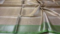 Pure Tissue Tussar Silk Self Weaving Saree