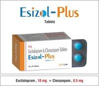 Escitalopram 10mg + Clonazepam 0.5mg