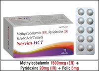 Methylcobalamin (SR)   1500mcg + Folic   5mg +  Pyridoxine (IR) 20mg.