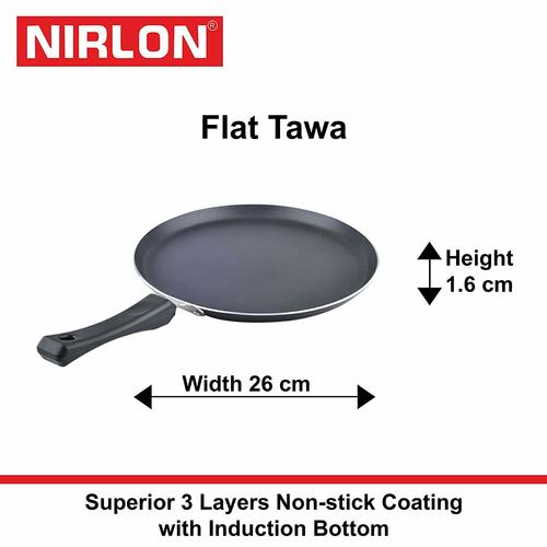 26 cm Nirlon Induction Black Tawa