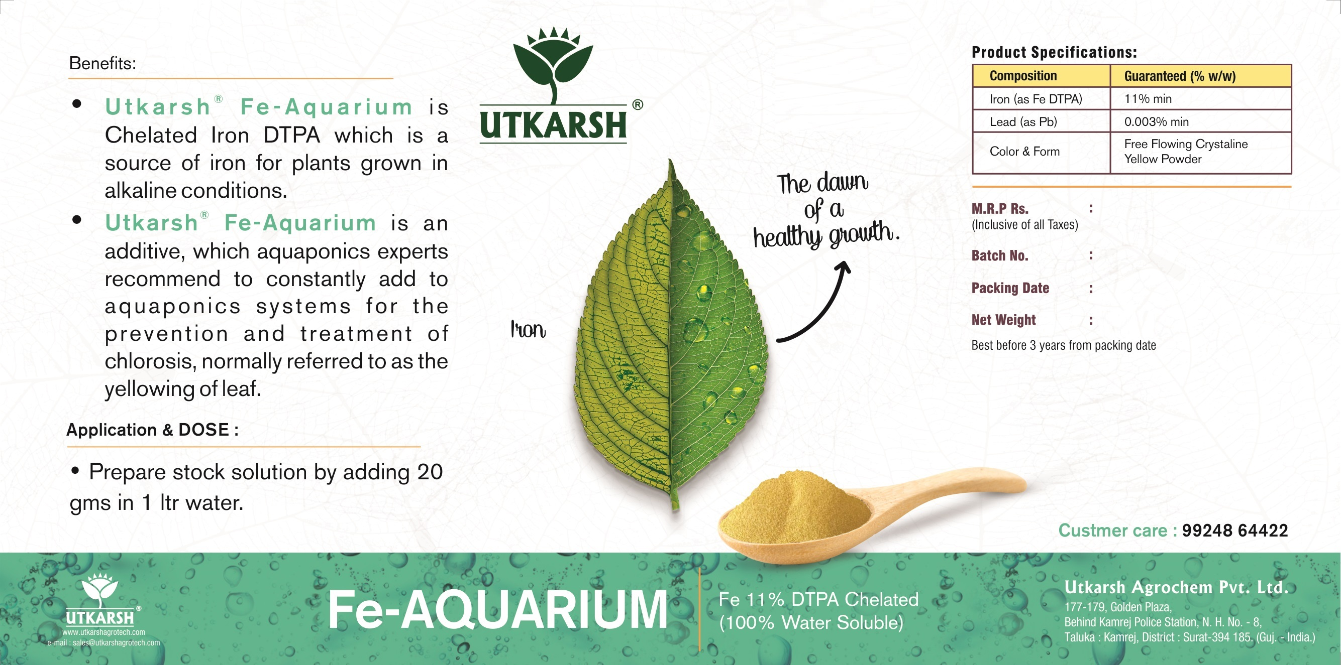 Iron Fe 11% DTPA Chelated