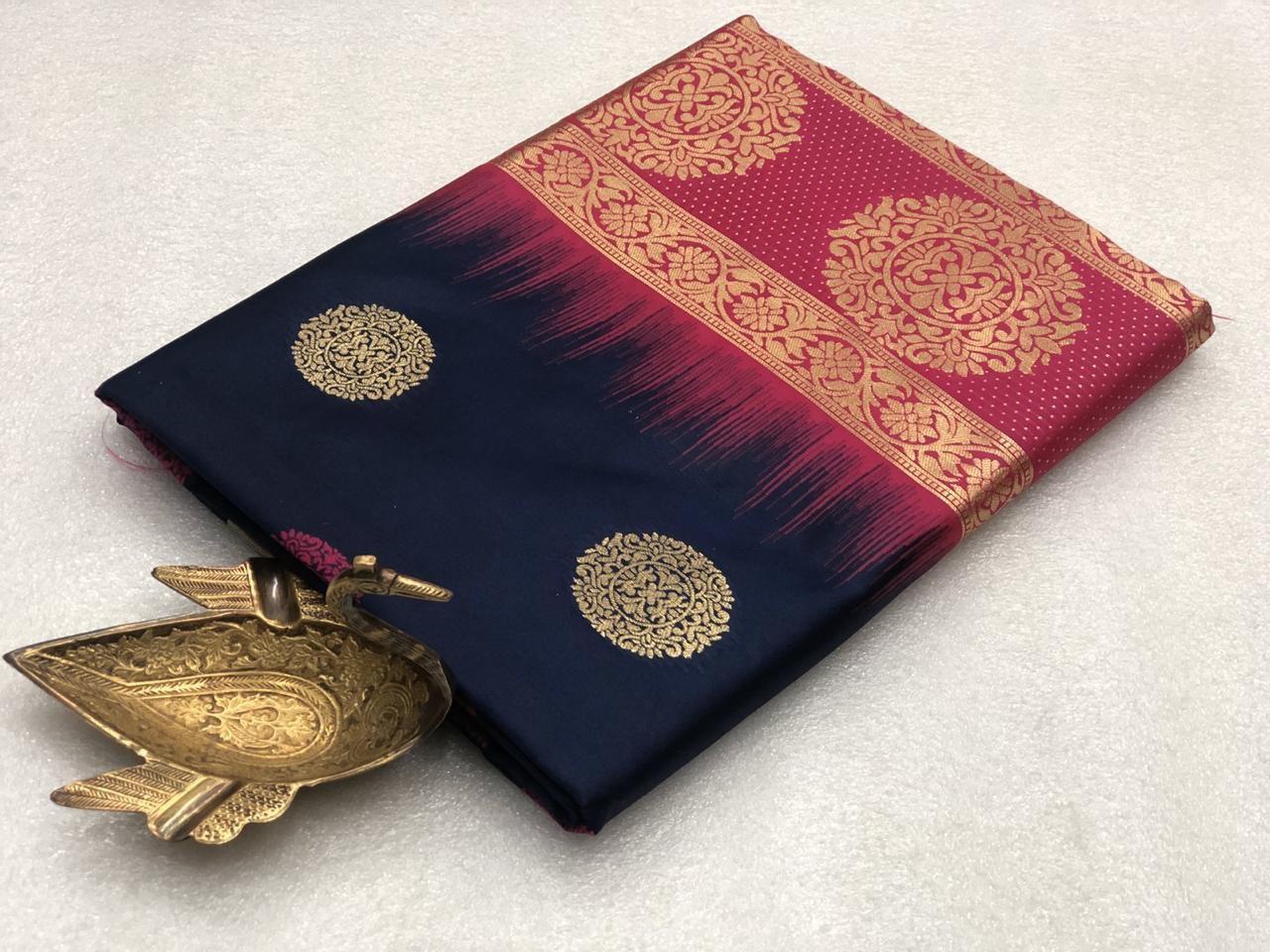 Anmol Lichi Silk Saree
