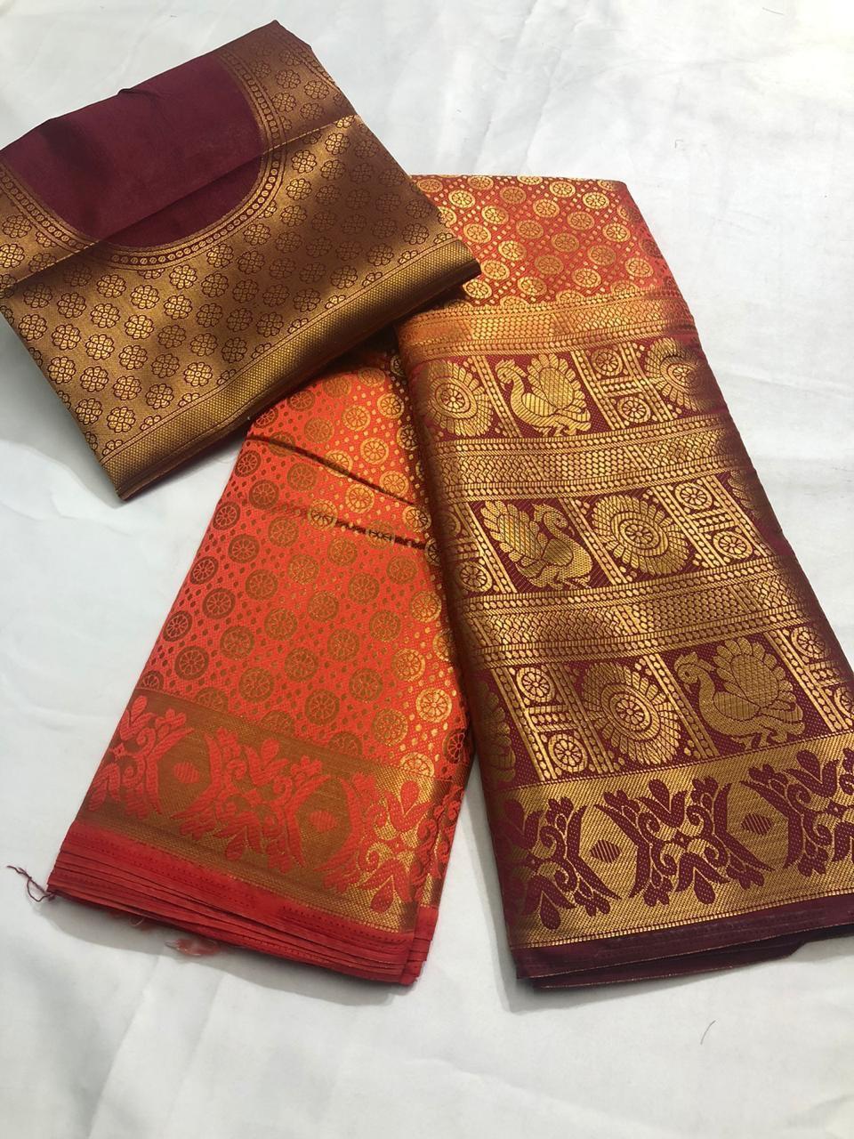 Designer Nylon Silk saree