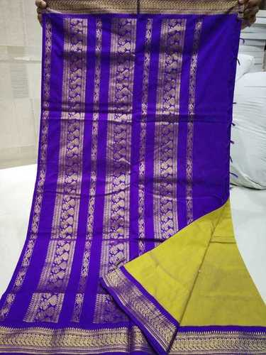 Kalyani Cotton Contrast Pallu Saree