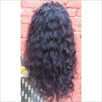 Natural Curly Swiss  Full Lace Human Hair Wig