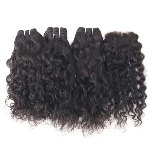 Indian Virgin Deep Curly With Matching Lace Closure 4x4