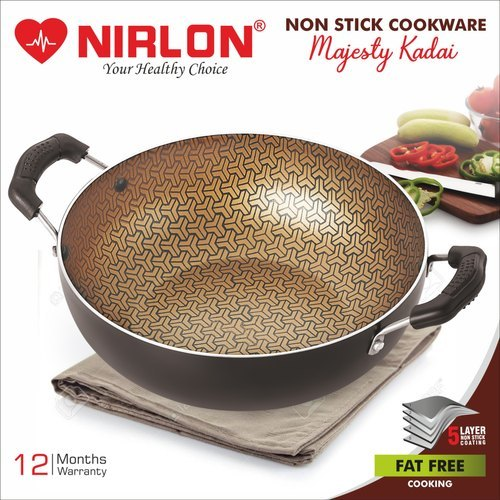 Nirlon Majesty Kitchen Cooking Nonstick Kadhai