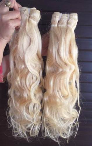 Blonde Wavy 613 Colour Cuticles Aligned Human Hair
