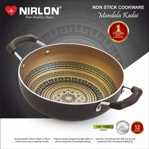 Nirlon Nonstick Mandala Deep Kadai