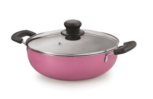 Nirlon Granite Orchid Pink Cookware Gift Set