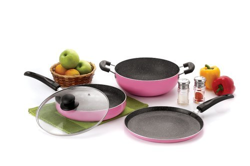 Nirlon Granite Orchid Pink Cookware Gift Set