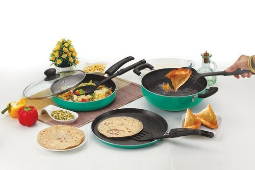 Nirlon Greenchef Granite Cookware Combo Gift Set