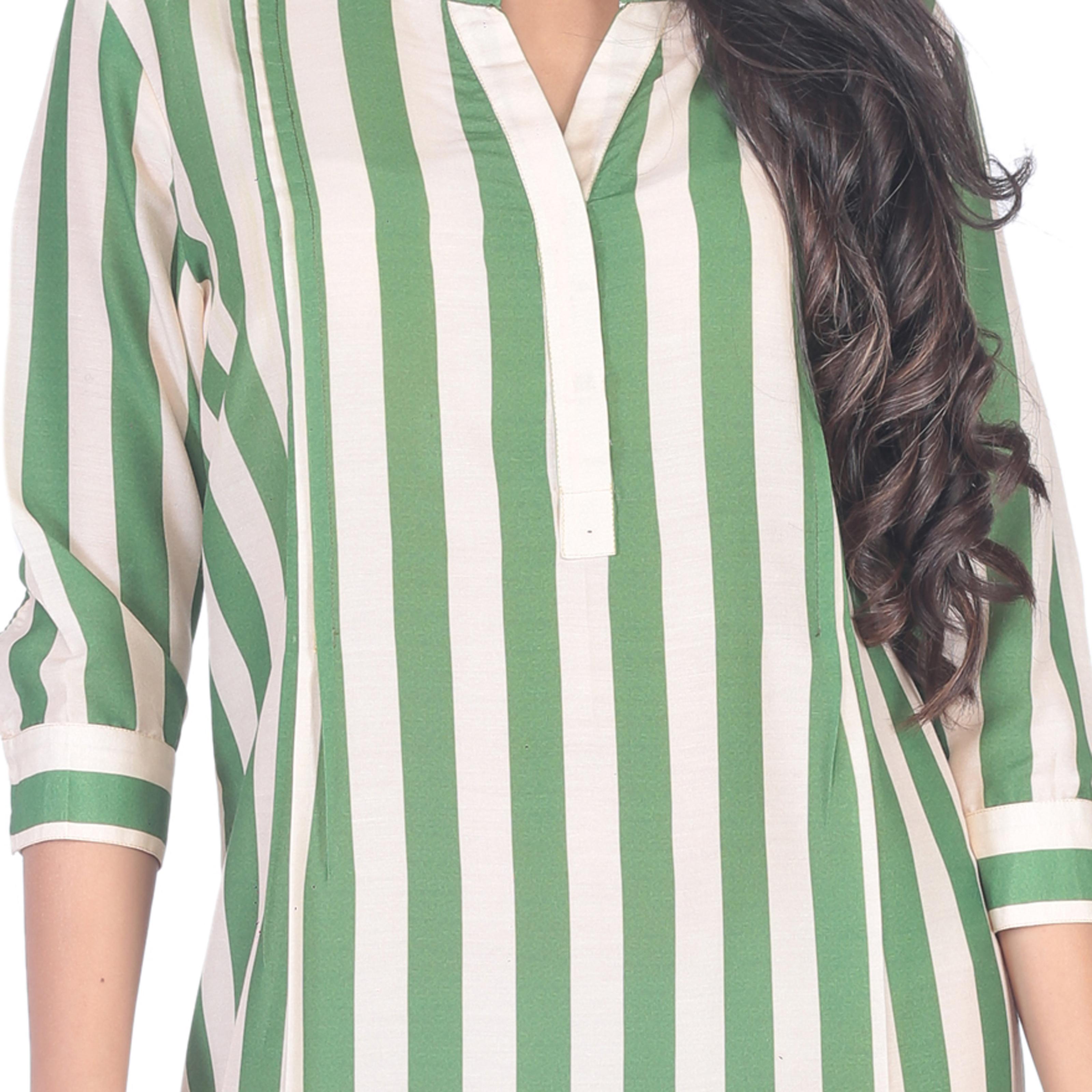 Strip Printed Dress