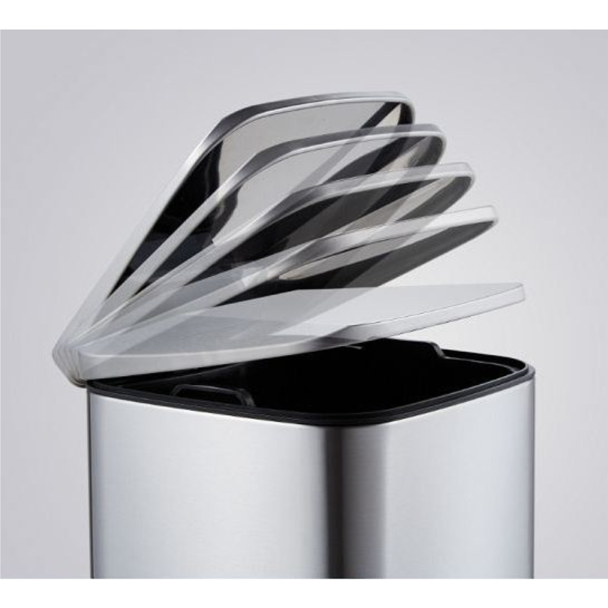 Foot Pedal Brushed Steel Dustbin