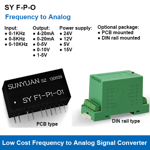 SY F-P-O Frequency Signal to Analog Signal Converters
