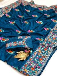 Chanderi Silk Party Wear Zari Saree
