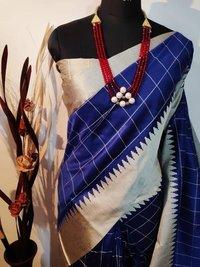 New Fancy Raw Muga Silk Saree