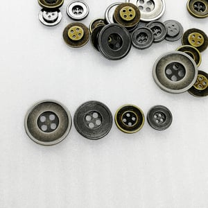 Simple custom size alloy 4 hole sewing button HD226-19