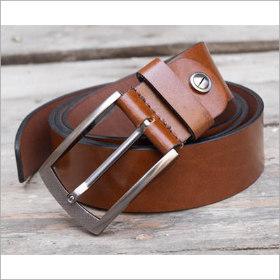 Brown Fabbro Genuine Leather Casual Belt