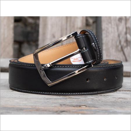 Black Fabbro Mens Genuine Leather Belt