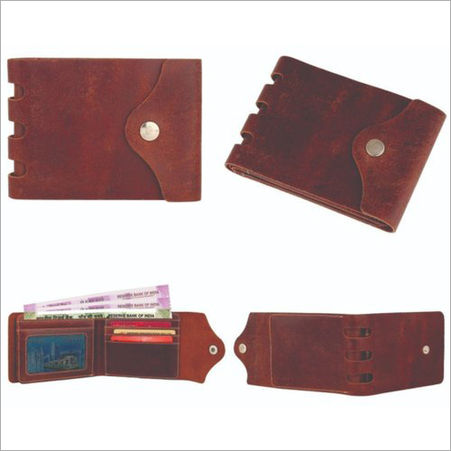Foldable Genuine Leather Wallet