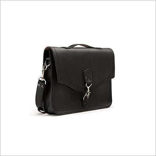 Black Leather Laptop Bag Gender: Men