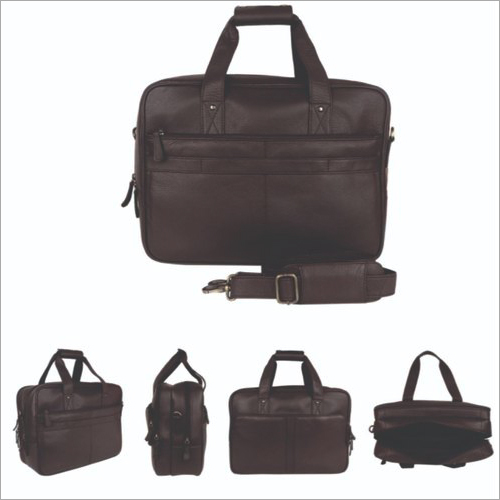 Milled Nappa Leather Lapto Bag